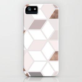 Golden Cubes II iPhone Case