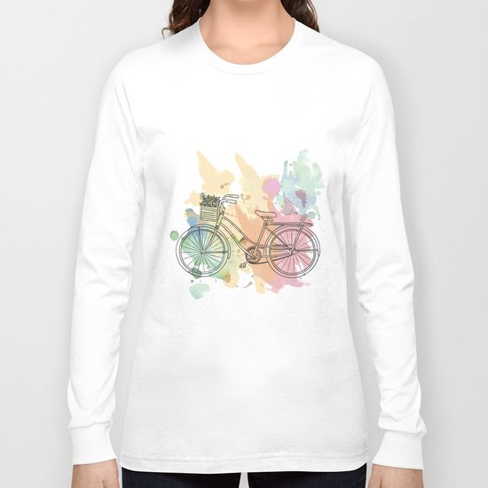Cycle Painting Long Sleeve T-shirt