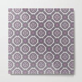 Flourishing Heart Abstract Seamless Pattern Metal Print