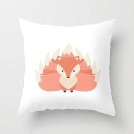 Chibi Kitsune Throw Pillow