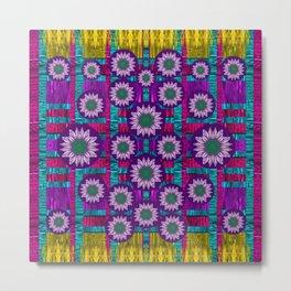 Rain Bow fantasy flowers in wonderful jungle colors of calm Metal Print
