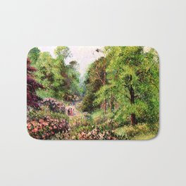 """Camille Pissarro """"Kew Gardens, Alley of Rhododendrons"""" Bath Mat"""