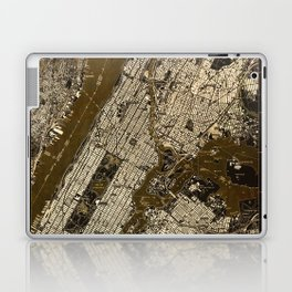 Central Park 1947, old vintage map, map poster new york Laptop & iPad Skin