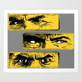 Gun Fight Threesome Art Print