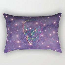 Rainbow Skull in Universe Rectangular Pillow