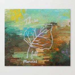 Those Fall Memories Canvas Print