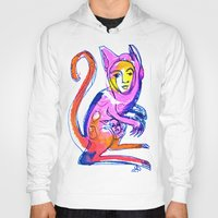 kangaroo Hoodies featuring Kangaroo by Dawn Patel Art