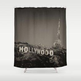 Vintage Hollywood sign Shower Curtain