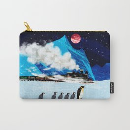 Penguin and Steam Train Carry-All Pouch