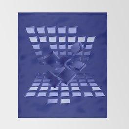 Explosion in blau Throw Blanket