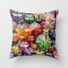 Bubbles, Balls and Lollipop Walls Throw Pillow