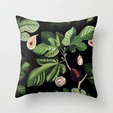 Figs Black Throw Pillow