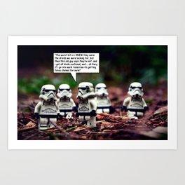 Force Choked =) Art Print