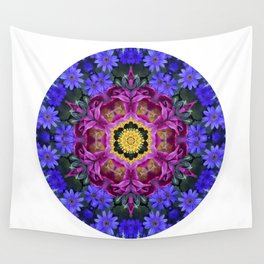 Floral finery - vivid kaleidoscope 20170321_135334 e k1 Wall Tapestry