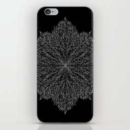 flower line art - black iPhone Skin