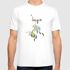Growing Pain MEDIUM Mens Fitted Tee White