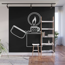Lighter White on Black Wall Mural