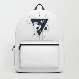 Space. Double Exposure. Geometric Style Backpack