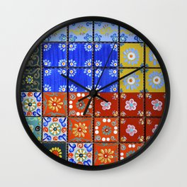 """Country Patchwork (ii)"" by ICA PAVON Wall Clock"