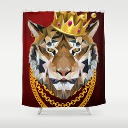 The King of Tigers Shower Curtain