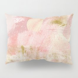 Rustic Gold and Pink Abstract Pillow Sham