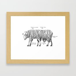 Sheep give us... Framed Art Print