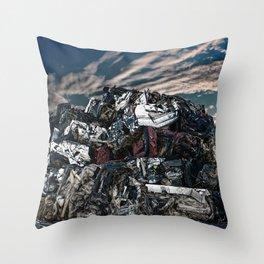 Breakage Throw Pillow