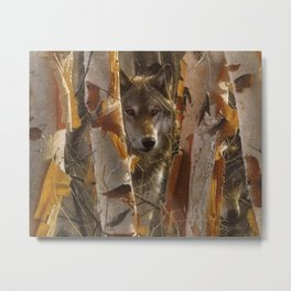 Wolf - The Guardian Metal Print
