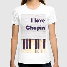 I love Chopin, piano classical music modern poster T-shirt