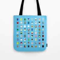philippines Tote Bags featuring Minimalism beloved Videogame Characters by Fabian Gonzalez