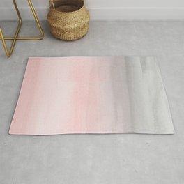 Blushing Pink & Grey Watercolor Rug