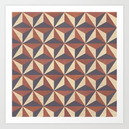 Cappuccino-Chocolate Art-Deco Pattern Art Print