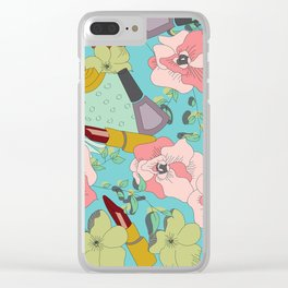 Powder Room in Blue Clear iPhone Case