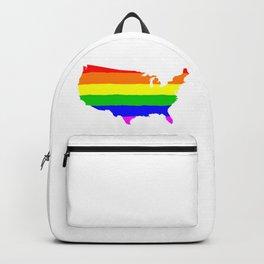 United States Gay Pride Flag Backpack