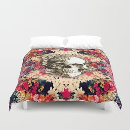 You are not here Day of the Dead Rose Skull. Duvet Cover