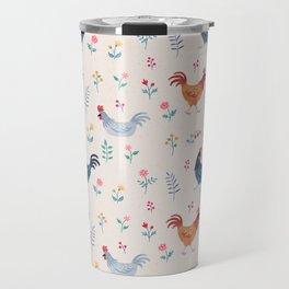 Little Hens (ivory) Travel Mug