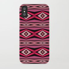 Pink Black and White Diamond Abstract iPhone X Slim Case