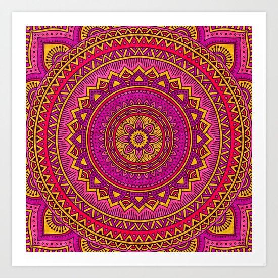 Hippie mandala 25 Art Print