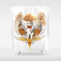 hedwig Shower Curtains featuring Potter Hedwig Owl by Rubis Firenos