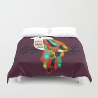 paradise Duvet Covers featuring Paradise by Picomodi