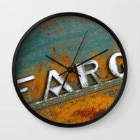 fargo Wall Clocks featuring Fargo by Photo by Malin Linder
