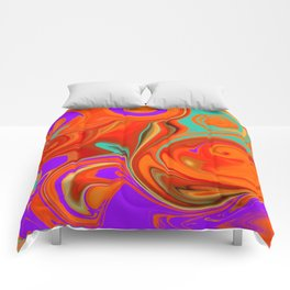 vortices in color Comforters
