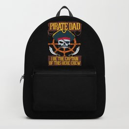 PIRATES: Pirate Dad Freebooter Jolly Skull Family Father's day Gift Backpack