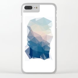 BE WITH ME - TRIANGLES ABSTRACT #PINK #BLUE #1 Clear iPhone Case
