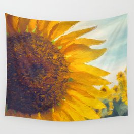 Sunflower Field In Late Summer Wall Tapestry