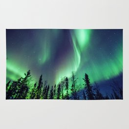 Northern Lights in Yellowknife Rug