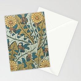 Art Nouveau Dandelion Pattern Stationery Cards