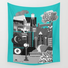 Charlotte Teal Wall Tapestry