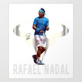 Rafa Nadal Spain. Art Print