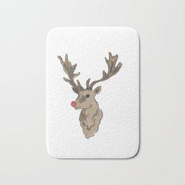 rudolf the rednosed reindeer Bath Mat